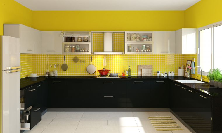Delightful Two Cook Kitchen Design With U Shaped Layout