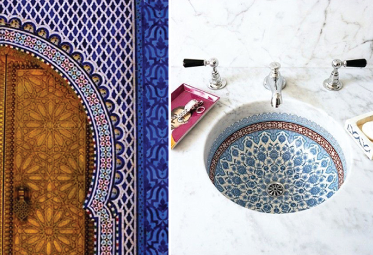 Merveilleux Mosaics Used In Sink And Door