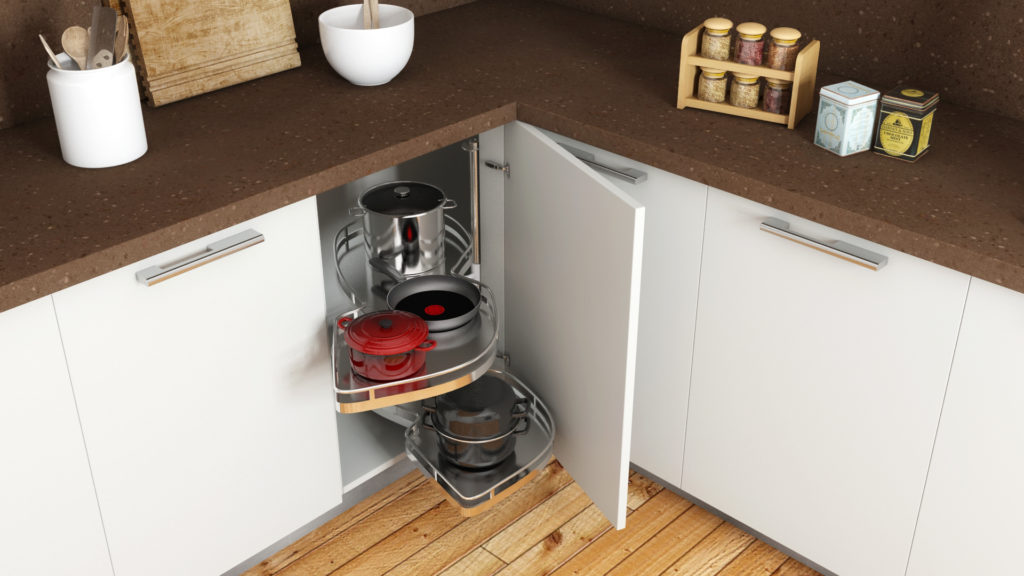 Kitchen for senior citizens - pull out trays