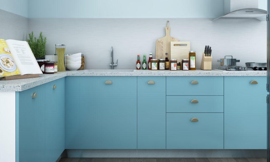 Kitchen for senior citizens - pastel kitchen