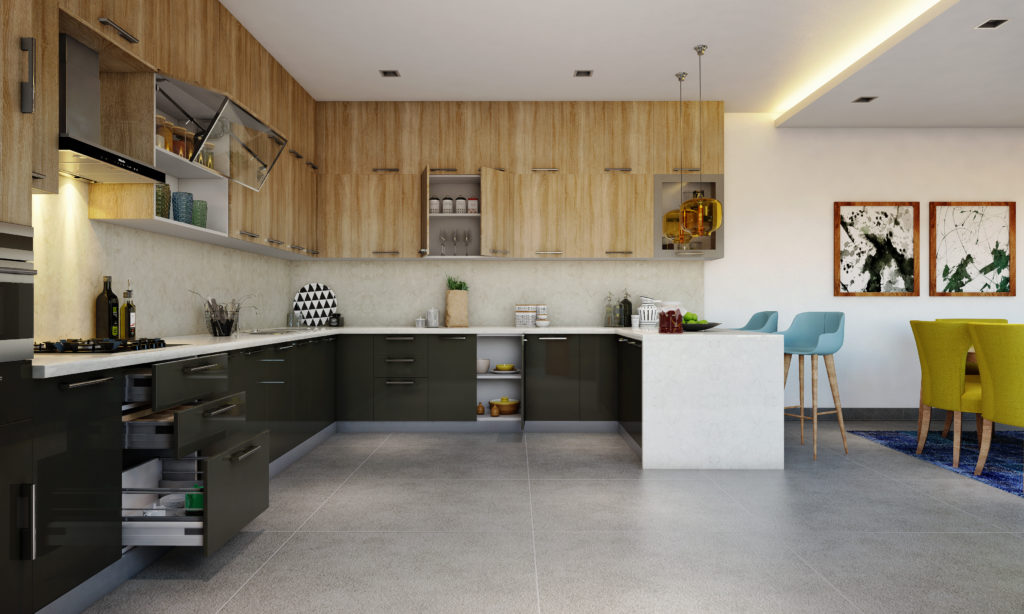 Kitchen for senior citizens - modular kitchen