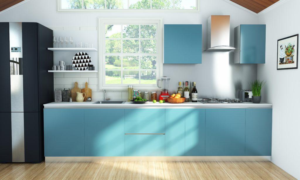 Kitchen for senior citizens - bright lights