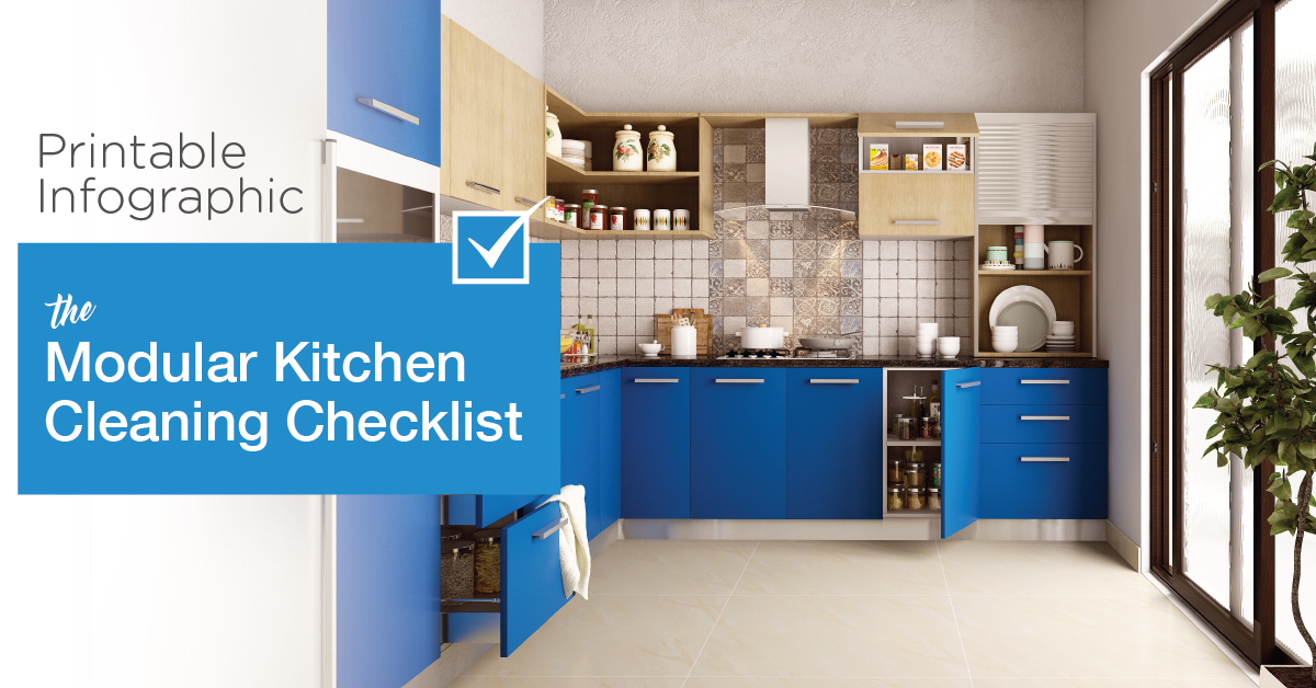 Printable Infographic | The Modular Kitchen Cleaning Checklist