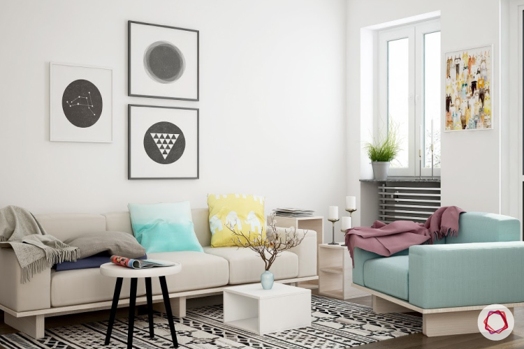 Clean the white walls of your living room with our tips.