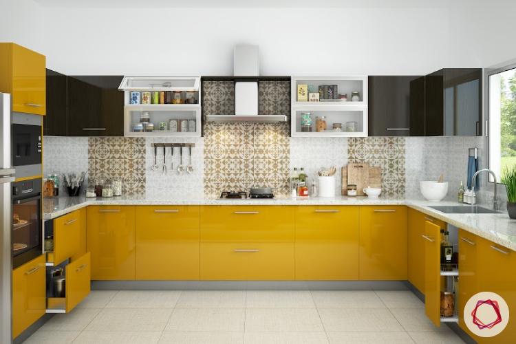Modular Kitchen Trends : Contrasting Cabinets   Interior Design Ideas