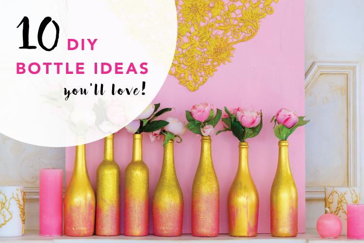 10 DIY Ideas Reusing Old Glass Bottles