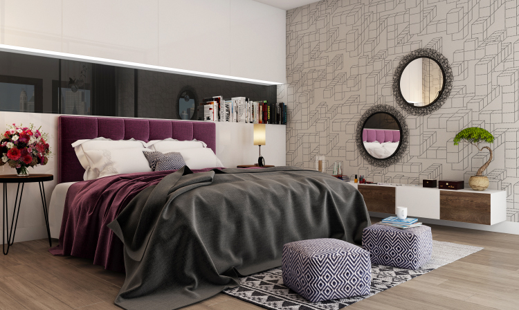 Trends: Beds With Upholstered Headboards