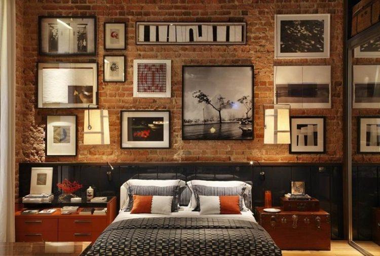 Brick Accent Wall Bedroom