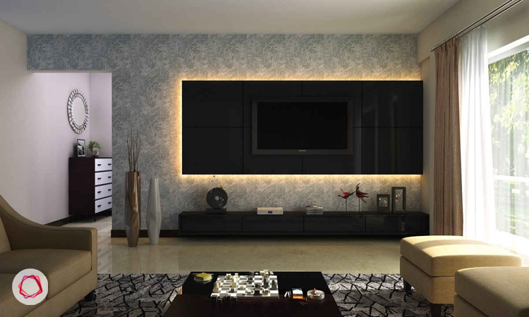 Modern Magnificence Tv Wall Design Backlit