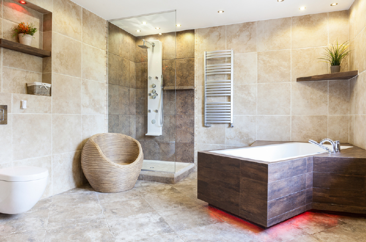 Porcelain Tiles Bathroom Flooring
