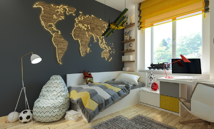 7 beautiful world map decor ideas for walls world map decor ideas gumiabroncs