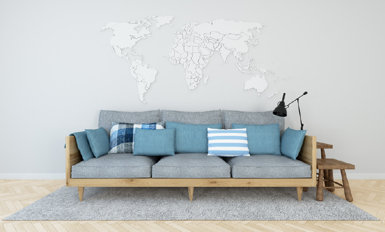 7 beautiful world map decor ideas for walls world map decor ideas gumiabroncs Image collections