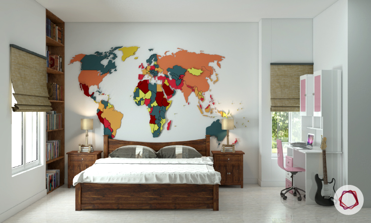 7 beautiful world map decor ideas for walls world map decor ideas gumiabroncs Choice Image