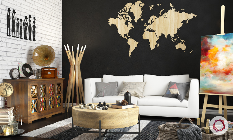 7 beautiful world map decor ideas for walls world map decor ideas gumiabroncs Gallery