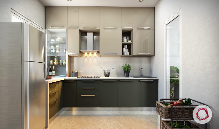 Gorgeous Grey Kitchens For Indian Homes - Colour schemes for grey kitchen units