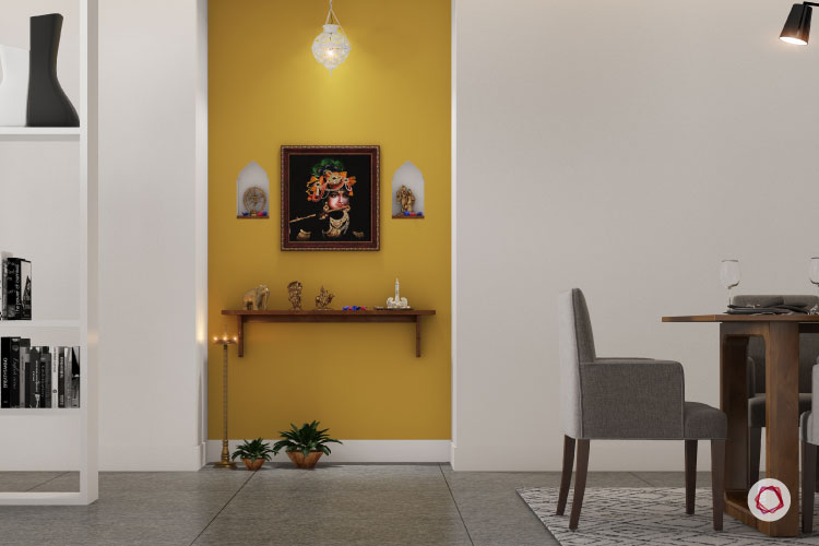 7 Trendy Colour Ideas For Pooja Room