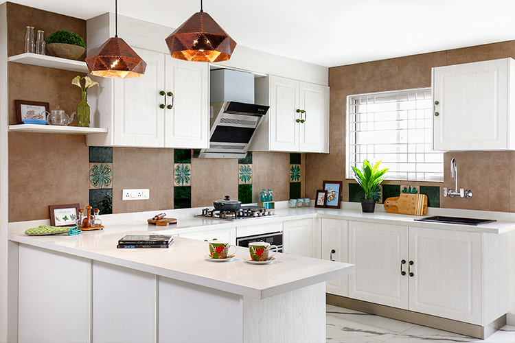 Pearly White Bangalore Kitchen That's A Mix of Old & New