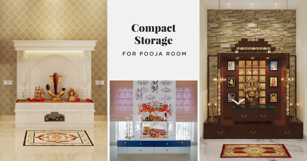 Storage Ideas: Pooja Rooms that Accommodate Everything