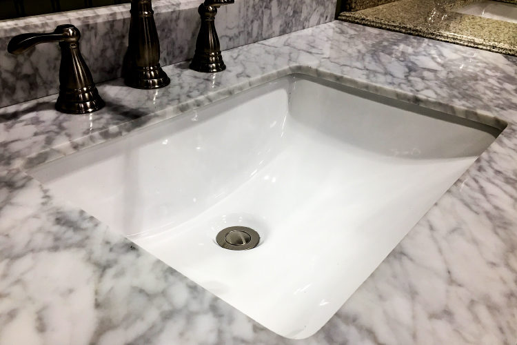 Bathroom Countertop Option #2: Marble