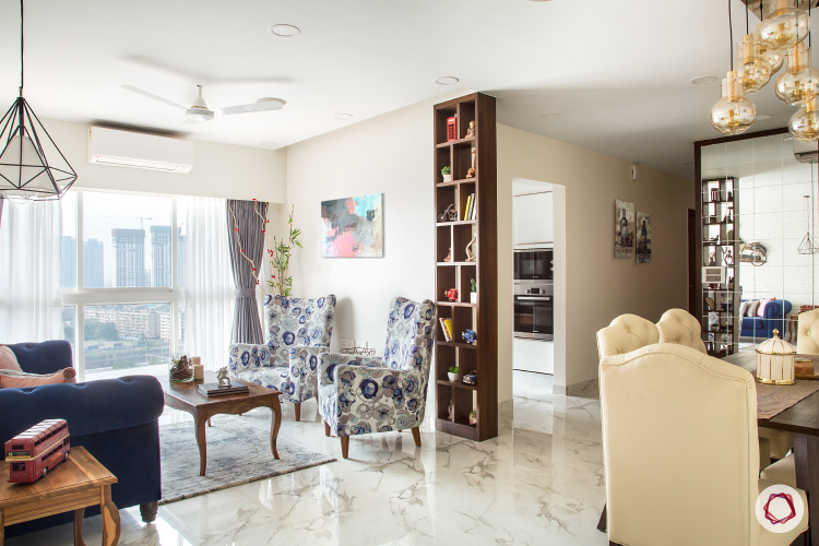 Flamboyant Apartment Interiors in Mumbai for a Couple