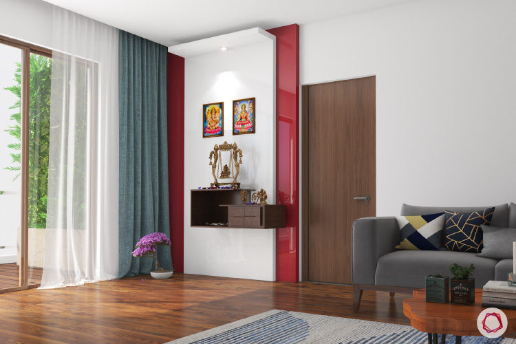Accent wall puja room