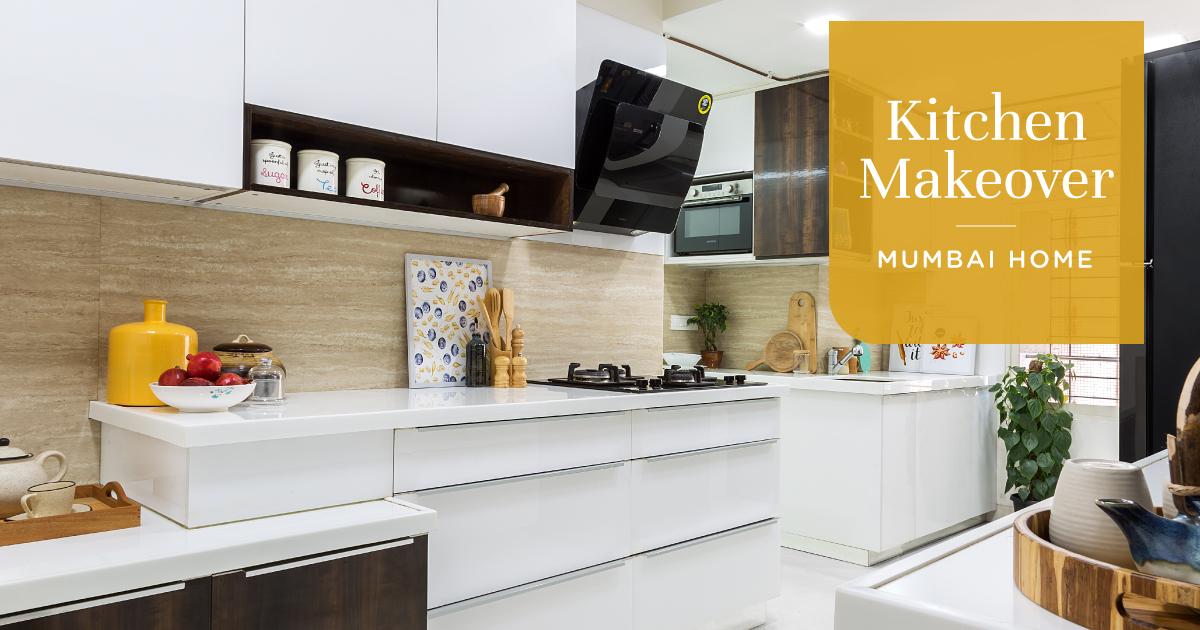 A 200 Sqft Goregaon Kitchen Gets a Facelift