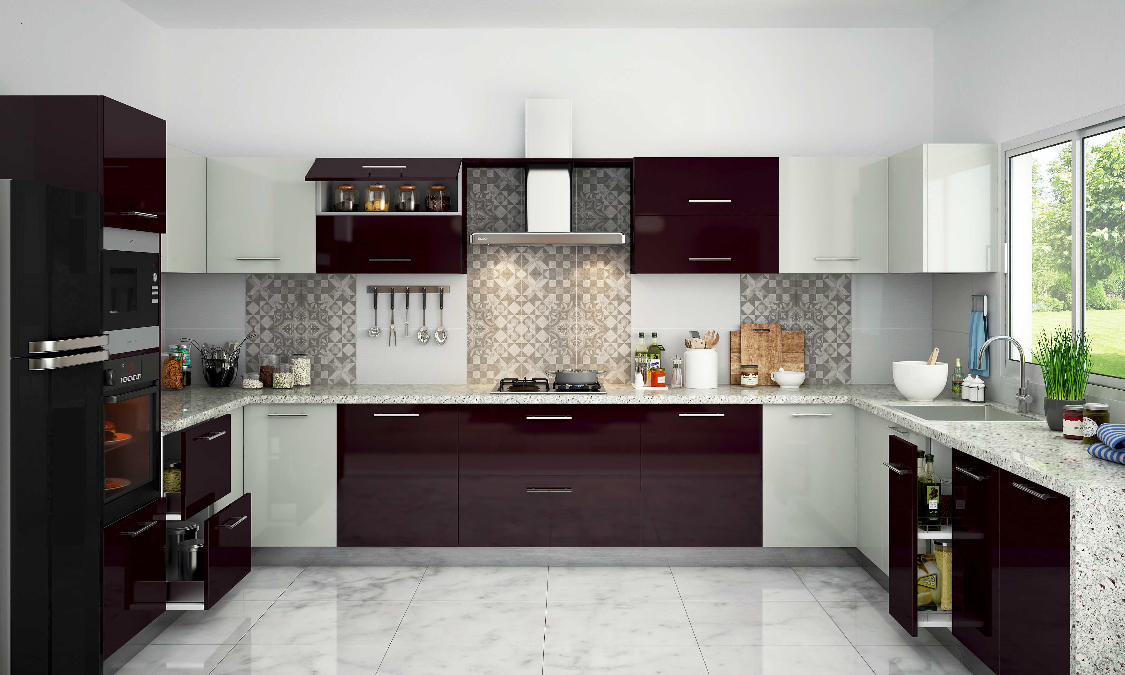 Kitchen design trends two tone color schemes interior design ideas for Kitchen designs and colours schemes