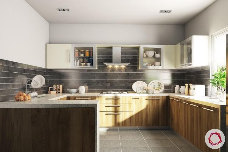 modular kitchen trends contrasting cabinets interior design ideas