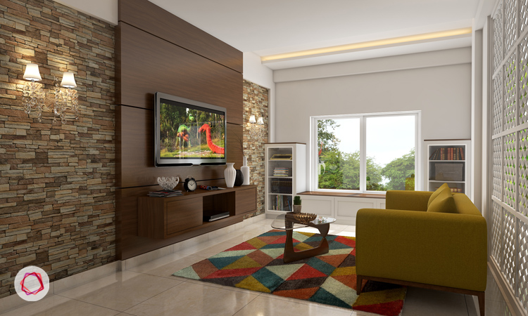 how to decorate your living room walls 6 stunning tv wall designs for your living room 27096