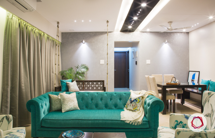living room mumbai mumbai interior design with a mix of themes 10647