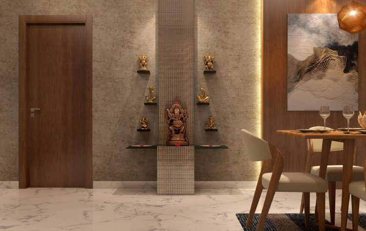 5 Exquisite Pooja Shelf Designs For Walls
