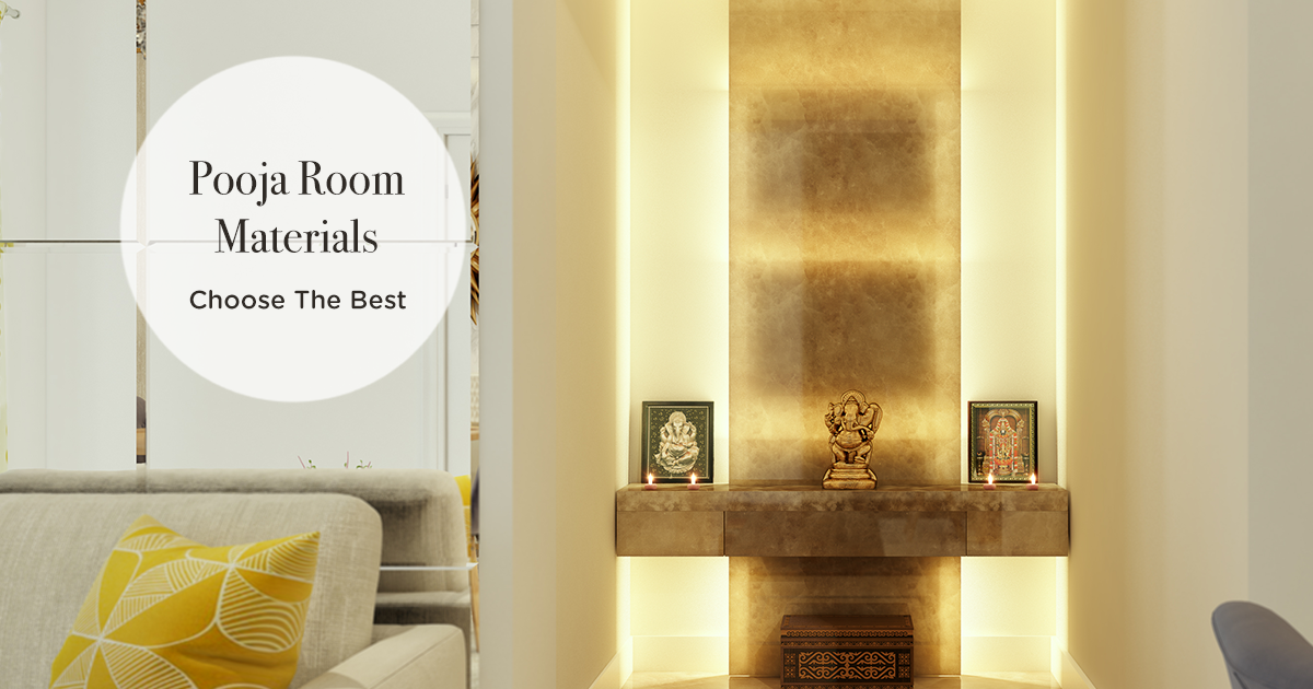 4 Classic Easily Available Materials For Pooja Room